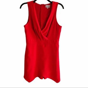 Red Dress Boutique Sleevless Romper Size M Red